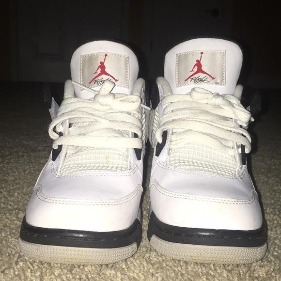 8d56a543ae4 Jordan Shoes | Air 4 Retro Og White Cement 7y | Poshmark